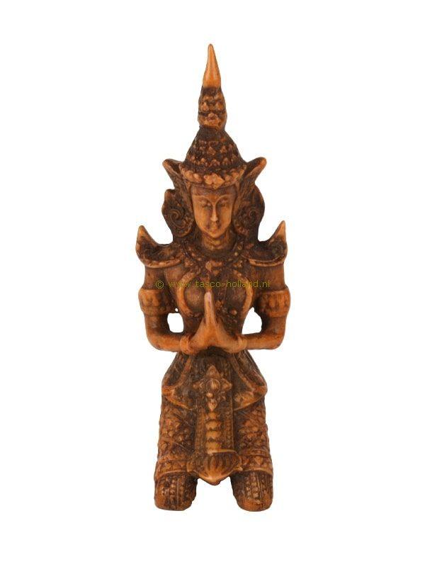 Boeddha knielend bruin 3x5x12,5 cm