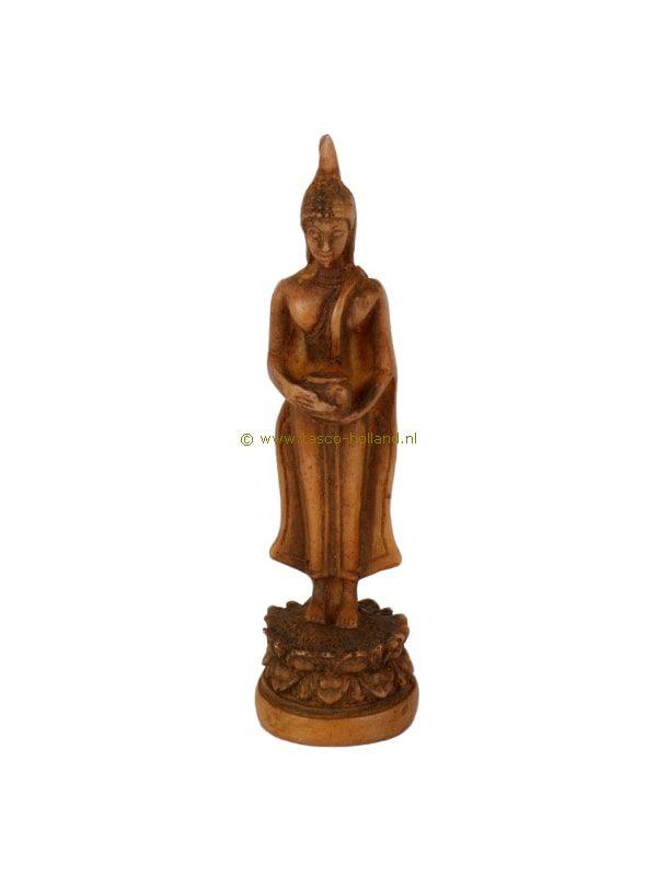 Boeddha staand bruin 2,5x2,5x10 cm