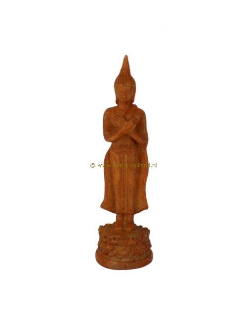 Boeddha staand bruin 2,5x2,5x10,5 cm