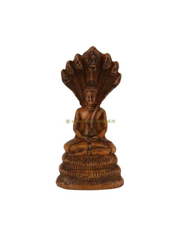 Boeddha zittend bruin 2,5x4,5x9 cm