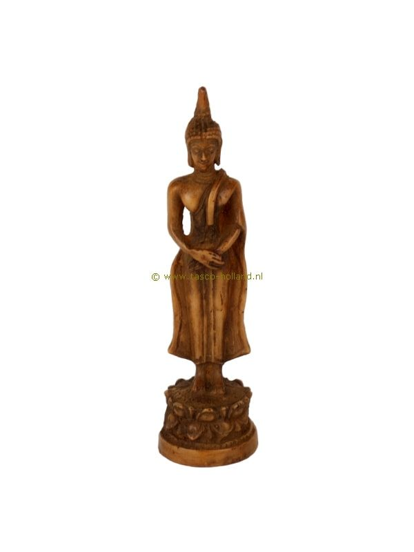 Boeddha staand bruin 2,5x2,5x9 cm