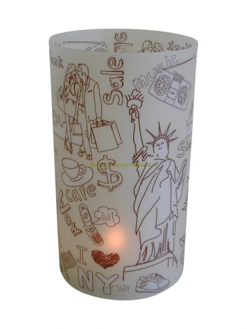Candle cover round 116 16x9 cm