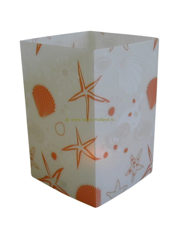 Candle cover square 132 12x7.5 cm