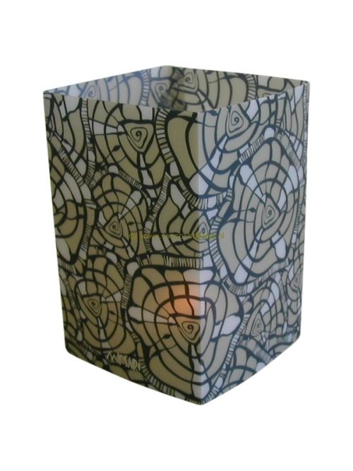Candle cover square 137 12x7.5 cm