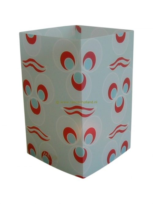 Candle cover square 139 12x7.5 cm