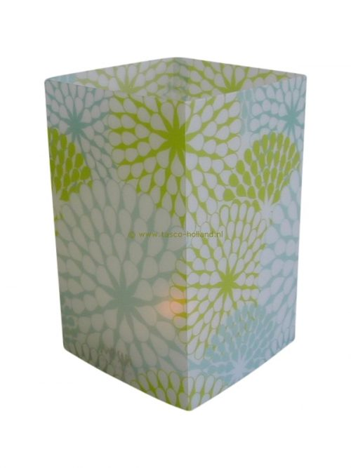 Candle cover square 144 12x7.5 cm