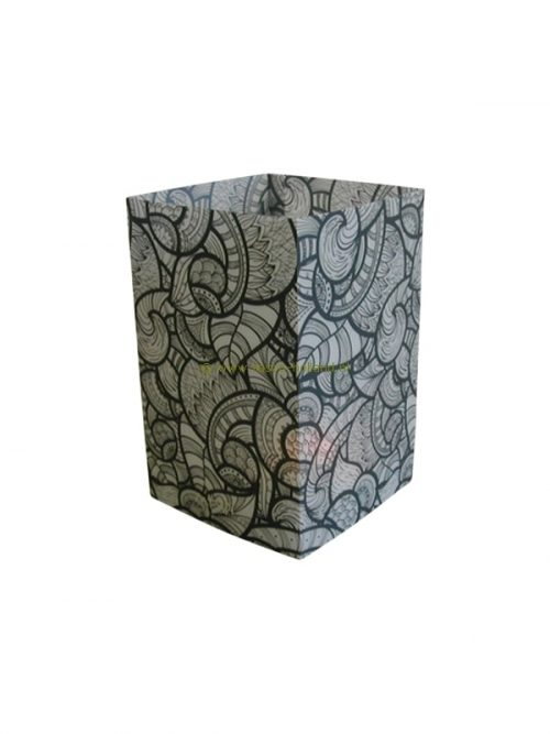 Candle cover square 152 12x7.5 cm