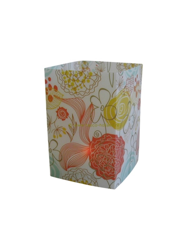 Candle cover square 153 12x7.5 cm