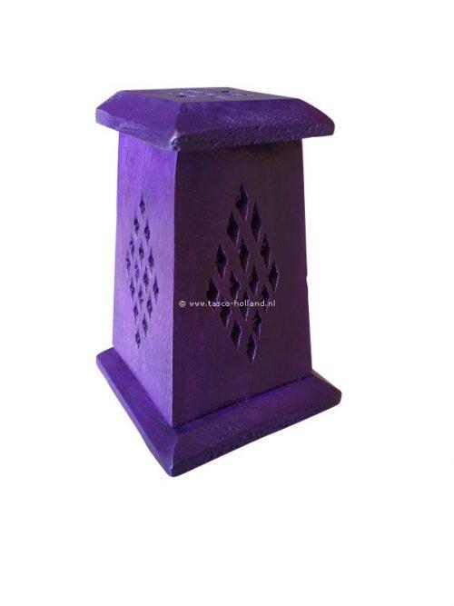 Wierookbrander paars hout