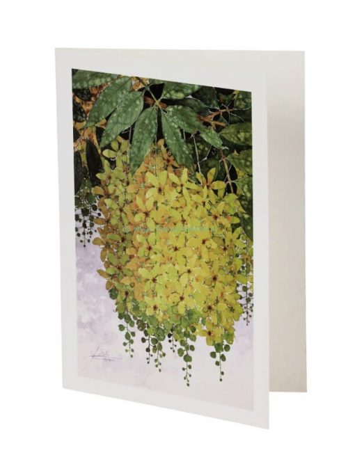 Card/envelope Golden Shower 13x18 cm