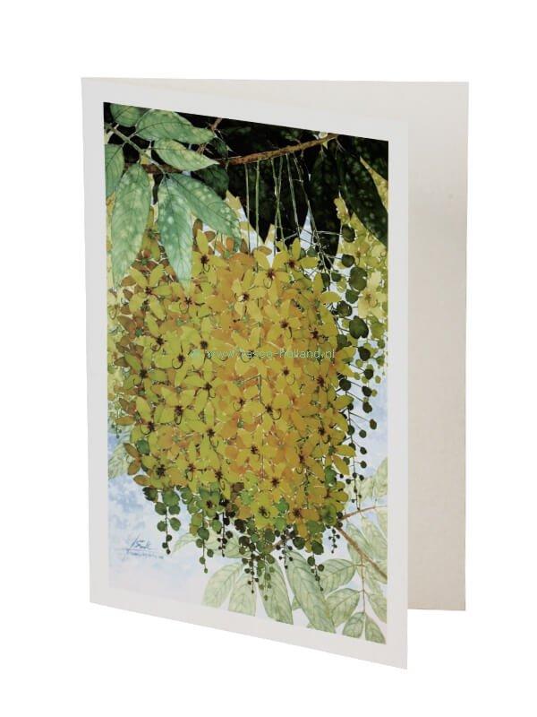 Kaart/envelop Golden Shower 2 13x 18 cm