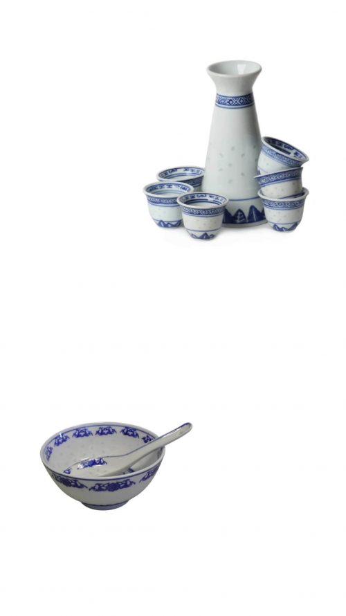 Ricepattern porcelain
