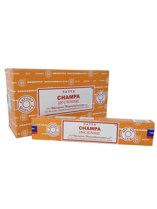 Wierook Satya Champa 22x4.5x2 cm groothandel