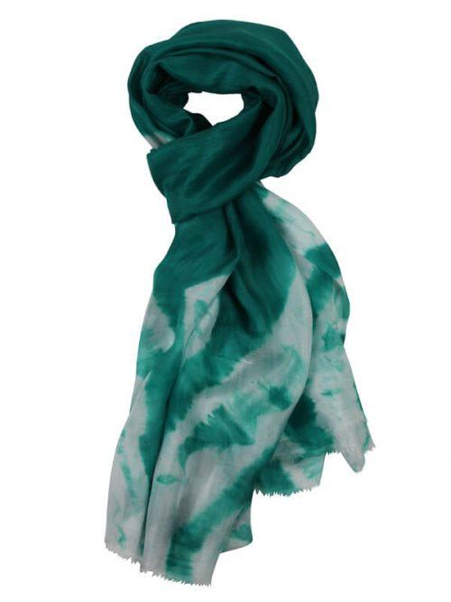 Sjaal groen 180x80cm 100% zijde
