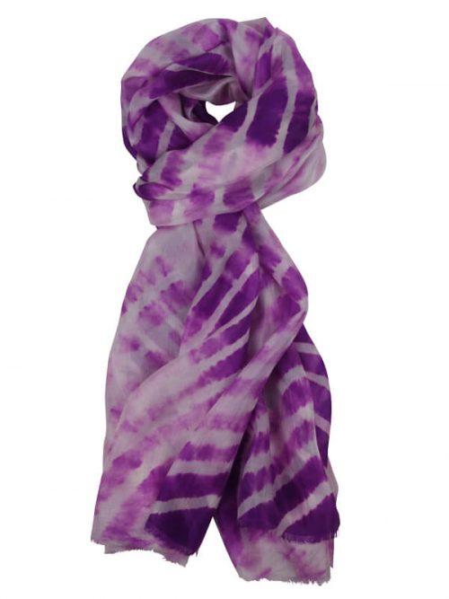 Sjaal paars 180x80cm 100% zijde