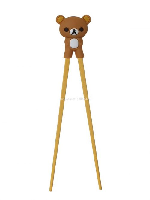 pair Children chopsticks bear brown 22.5x5x2 cm