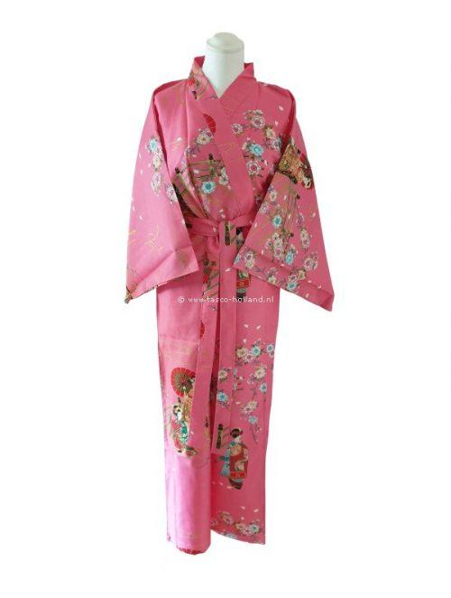 "Kimono katoen 55"" maiko (560) roze"