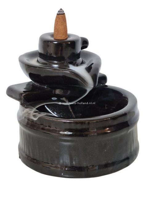 Backflow incenseburner round 10.5x13x11 cm