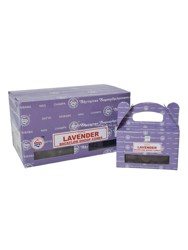 Backflow wierookpuntjes Satya Lavender pak van 6 doosjes