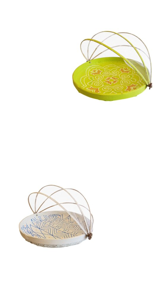 Schalen met vliegennet