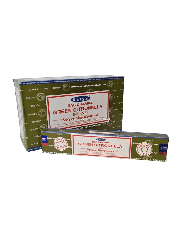 Wierook Satya Green Citronella 22x4.5x2 cm per 12