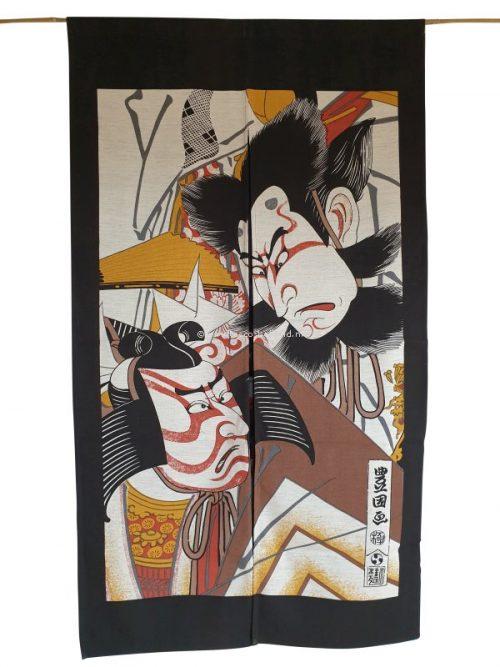Noren (deurgordijn) 85x150cm kabuki