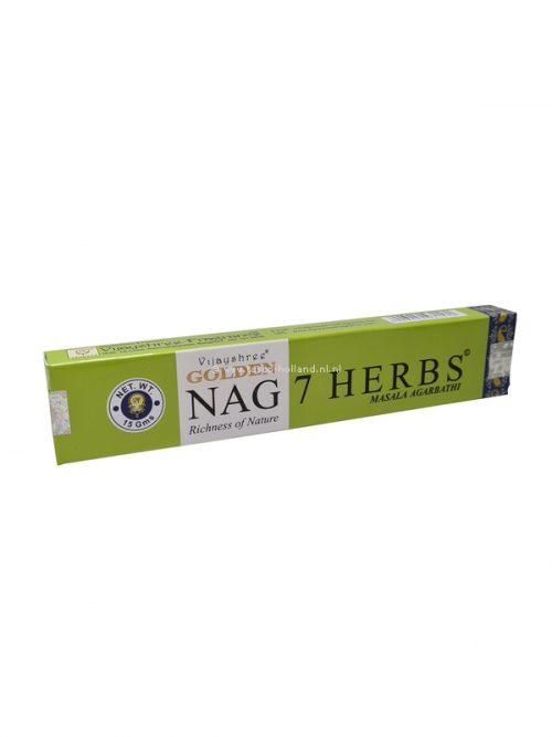 Wierook Golden Nag 7 Herbs 22x4.5x2 cm