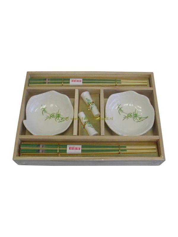 set/6 Sushi set bamboe 24x17x3 cm