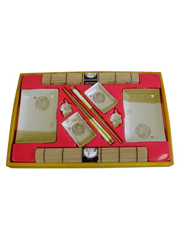 set/10 Sushi set beige 45x30x4 cm