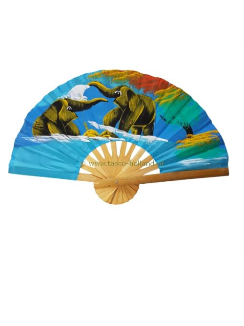 Fan cloth elephant colored 25cm