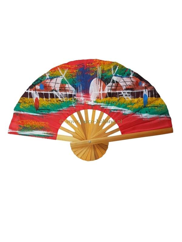 Fan cloth landscape colored 25cm
