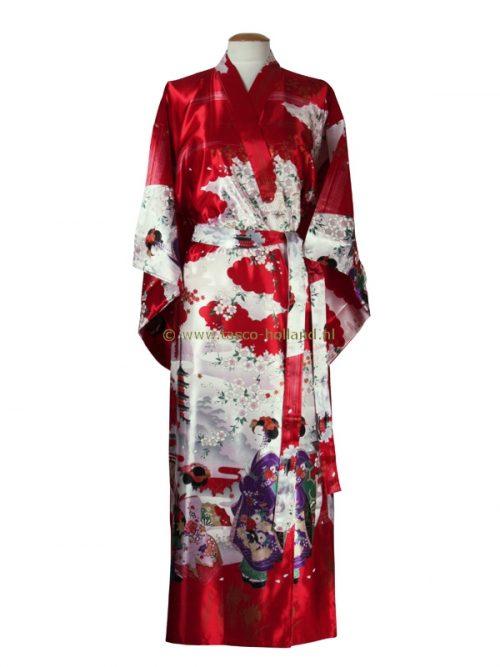 Kimono maiko polyester (013) rood