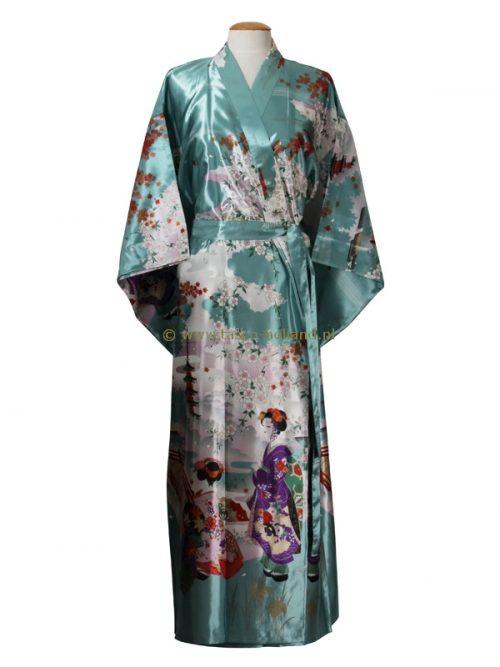 Kimono maiko polyester (013) blauw