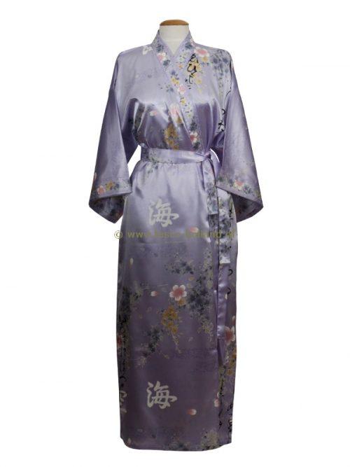 Kimono bloem polyester (080) paars