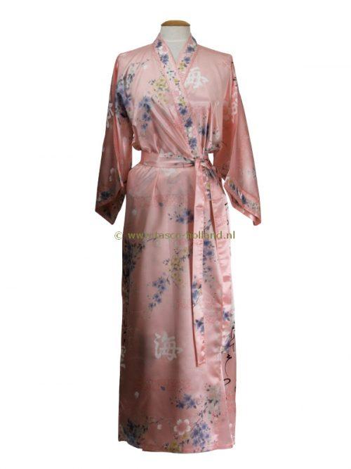 """Kimono Polyester 55"""" flower (080) rosa"""