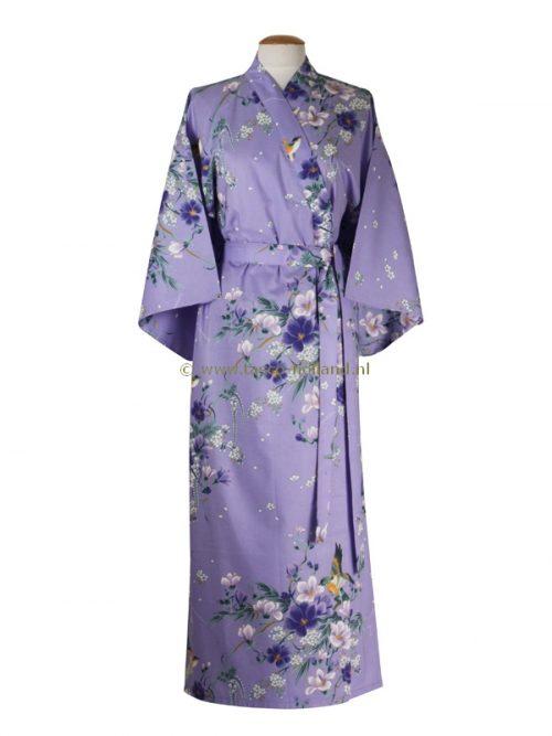 Kimono bloemen katoen (541) paars