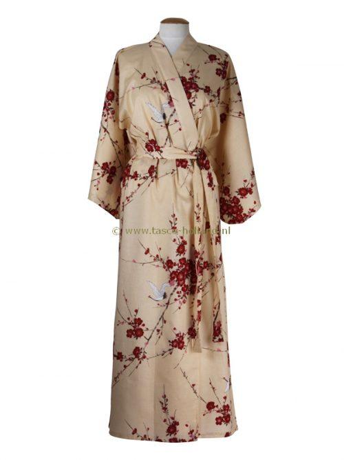 Kimono kersenbloesem katoen (547) beige