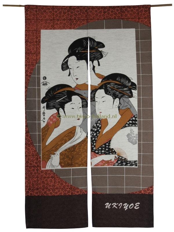 Noren (Japans deurgordijn) three ladies