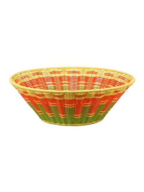 Bowl coloured twined plastic 34x34xh11 cm